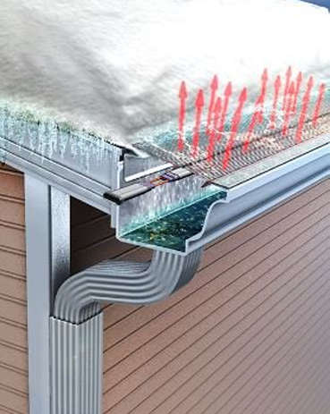 Erie Heated Gutters Ice Dam Removal Heated Gutter